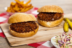 BBQ Pulled Pork Sandwich Royalty Free Stock Photo