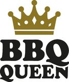 BBQ queen with crown. Vector stock illustration
