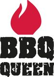 BBQ queen with flame. Vector Royalty Free Stock Image
