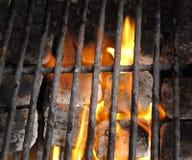 BBq ready Hot carbon Stock Photos