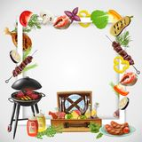 BBQ Realistic Frame Royalty Free Stock Photos