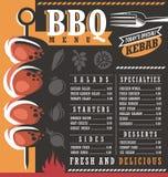 BBQ restaurant menu design stock illustration