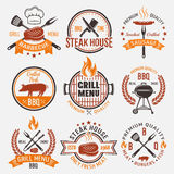BBQ Retro Style Emblems Stock Photo