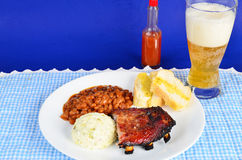 BBQ Rib Plate Stock Photography
