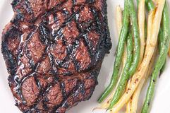 Bbq rib steak Royalty Free Stock Photography