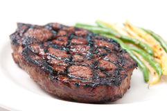 Bbq rib steak off the grill Stock Image