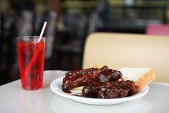 BBQ ribben bij restaurant Royalty-vrije Stock Afbeeldingen