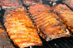 BBQ Ribs. On the Grill Stock Image