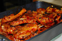 BBQ Ribs. A fresh pot of hot bbq ribs ready for a feast Stock Photography