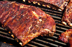 BBQ Ribs on Grill Royalty Free Stock Photography
