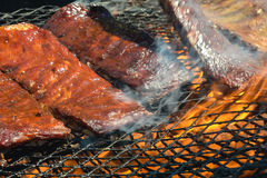 BBQ ribs on the Grill Royalty Free Stock Photography