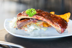 Bbq ribs meat steak Royalty Free Stock Photography