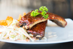 Bbq ribs meat steak Stock Image