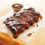 Bbq ribs shot with selective focus Royalty Free Stock Image