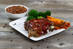 BBQ Ribs with side dishes Royalty Free Stock Images
