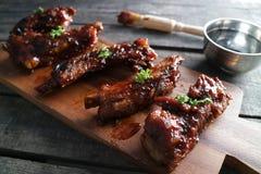 BBQ Ribs Strips stock photo
