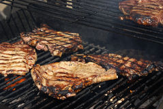 Bbq-Rippe-Steaks Stockbild