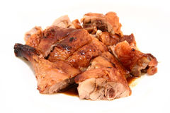 Bbq roast duck with sauce_diff angle Royalty Free Stock Photos