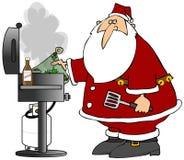 BBQ Santa Foto de Stock Royalty Free
