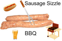 BBQ and sausage sizzle concept Stock Photo