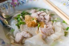 Bbq-Schweinefleischnudelnahrung Malaysia Stockfotos
