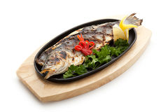 BBQ Sea Bass Royalty Free Stock Images