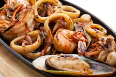 BBQ Seafood Royalty Free Stock Images