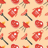 BBQ Seamless Pattern Stock Images