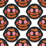 BBQ seamless pattern design with meat - food background barbecue pattern, vector illustration Royalty Free Stock Images