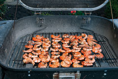 BBQ shrimps royalty free stock photo