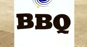BBQ Sign Stock Photography
