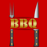 BBQ sign. BBQ sign as a menu or poster royalty free illustration