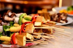 BBQ skewer Stock Images