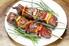 BBQ skewers stock photography