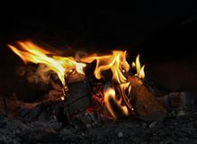 Bbq. Small red flame royalty free stock photo