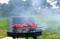 BBQ with smoke 2 Royalty Free Stock Photography
