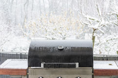 BBQ in the snow Royalty Free Stock Images