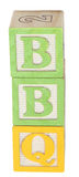 BBQ soletrado em blocos do alfabeto Imagem de Stock Royalty Free
