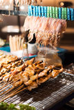 BBQ Squid on a Stick Royalty Free Stock Photo