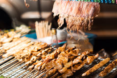 BBQ Squid on a Stick Royalty Free Stock Photos