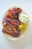 BBQ in st. louis. BBQ plate in st. louis, MO Royalty Free Stock Photos