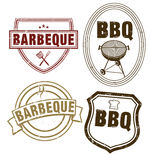 BBQ Stamping. Isolated on white Stock Photos