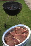 BBQ Steak. Steaks ready for the fire Royalty Free Stock Photography