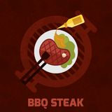 Bbq Steak Poster Stock Photos