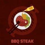 Bbq Steak Poster Stock Photos