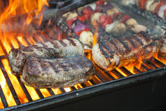 BBQ steaks Stock Images