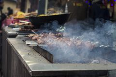 BBQ street food stock photography