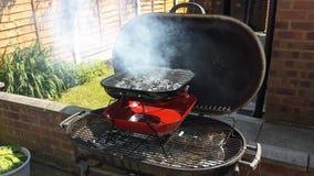BBQ su un BBQ Fotografia Stock Libera da Diritti