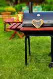 BBQ Summer Backyard Party Scene Royalty Free Stock Photography