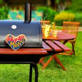 BBQ Summer Backyard Party Scene Stock Photography